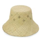 LIKA夢 Limehi  時尚造型手工編織藺草帽 沙灘遮陽帽 卡其 Lime-27