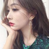 【全館】現折200顯臉瘦的純銀耳環女長款百搭流蘇耳線韓國氣質簡約個性耳墜