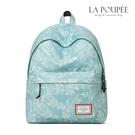 後背包 清新淡綠芭蕉葉印花A4大容量書包-La Poupee樂芙比質感包飾 (現貨)