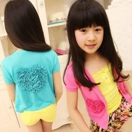 韓版《愛心玫瑰款》短版小外套