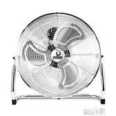 桌上電風扇 強力工業電風扇大風力趴地扇家用落地扇台扇工廠車間大功率爬地扇JD 220v