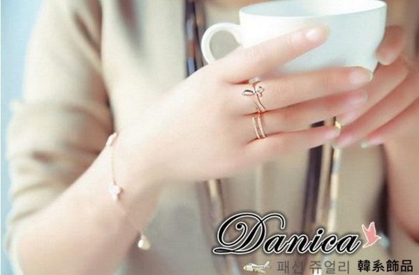 戒指 現貨 正韓時尚 氣質甜美 微鑲簡約 鋯石 開口戒指 S5122  批發價 Danica 韓系飾品