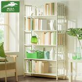 簡易書架置物架簡約現代實木多層學生書櫃落地兒童收納架BL 【好康八八折】