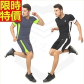 緊身衣套裝含健身重訓衣+緊身褲-深度透氣速乾專業運動服2色69m32【時尚巴黎】