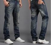 牛仔褲男秋季新款褲子男牛仔褲寬鬆直筒休閒牛仔長褲男士韓版  宜室家居