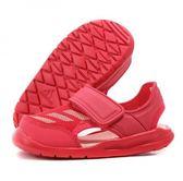 Adidas 男女款粉色涼拖童鞋-NO.BA9373