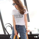 OrangeBear《AB3072》黑色亮片英文拼字燙印圓領上衣.2色--適 XL~5L