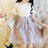 洋裝夏2020年新款女神范一字領a字裙子收腰顯瘦氣質仙女公主裙 韓語空間