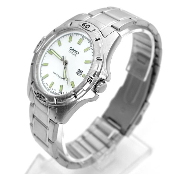 CASIO手錶 白面夜光刻度鋼錶NECE48