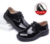 童鞋男童皮鞋2020韓版新款中大兒童黑色英倫小學生男孩軟底演出鞋 滿天星