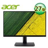 【Acer 宏碁】ET271 27型 IPS 窄邊框寬螢幕【送收納購物袋】
