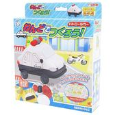 〔小禮堂〕日本銀島 警車黏土模具組《3色.藍盒裝》兒童玩具.美勞玩具 4973107-46222