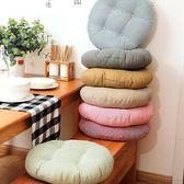 限定款坐墊棉麻加厚純色坐墊椅墊飄窗圓墊子地板蒲團日式打坐靠墊功夫茶坐墊