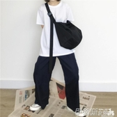 帆布包側背尼龍帆布斜背包素色大容量旅行包運動健身電腦包學生書包 春季特賣