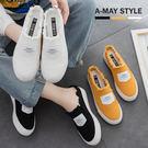 休閒鞋-不修邊簡約字母帆布鞋【XDO612334】 不修邊造型款 時尚百搭系列