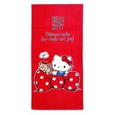 【Sanrio三麗鷗】凱蒂貓愛蝴蝶結浴巾 100%棉 76x152cm