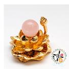 粉晶球+金蓮座   【十方佛教文物】