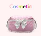 化妝包【HPN005】粉紅芭比菱格紋化妝包 123ok