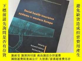二手書博民逛書店social罕見health insurance systems in western europe西歐的社會健康