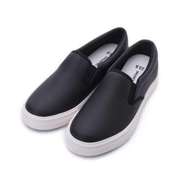 GIOVANNI VALENTINO 素色仿皮套式休閒鞋 黑 GV8512 女鞋