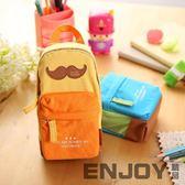 書包造型筆袋 大容量學生文具袋帆布筆盒
