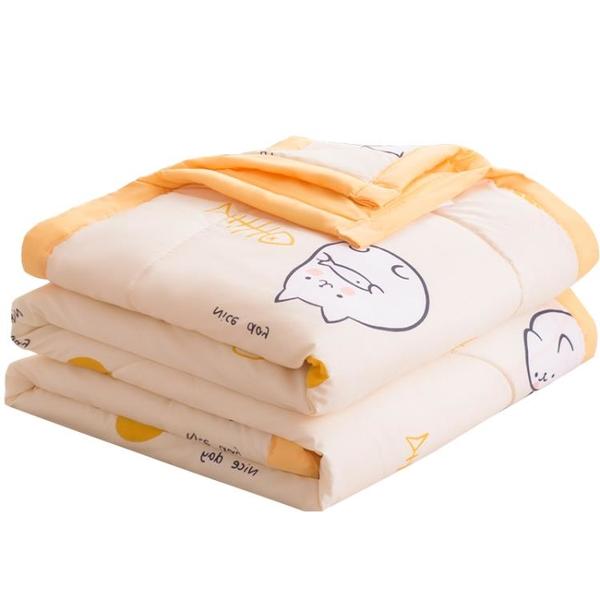 水洗棉空調被夏涼被雙人夏季薄款被子兒童單人春秋夏天夏被可機洗 黛尼時尚精品