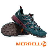 【MERRELL 美國】女 CHOPROCK 多功能 戶外健行鞋『藍綠/米』85940 機能鞋.多功能鞋.休閒鞋.登山鞋