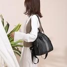 皮革後背包雙肩包女包包新款潮韓版時尚百搭羊皮大容量旅行書包女士背包 麥吉良品
