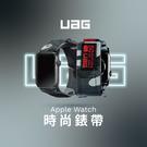 UAG Apple Watch 時尚錶帶 38/40mm 42/44mm 替換錶帶 尼龍編織 智慧手錶 蘋果 黏帶設計 不鏽綱錶釦