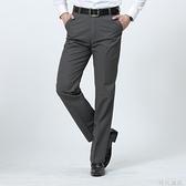 中老年男裝全棉男褲子寬鬆直筒休閒褲男士純棉商務黑色薄款爸爸褲