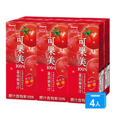 可果美蕃果園100%蕃茄蘋果汁200ml*24/箱【愛買】