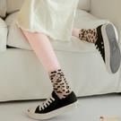 堆堆襪女日系中筒襪豹紋長襪純棉【小獅子】
