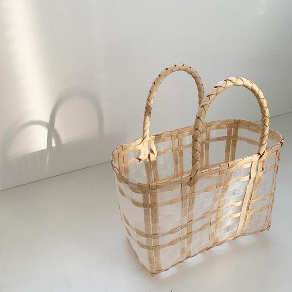 草編包 cosy zing 包包2021新款潮夏季草編織包女海邊沙灘手提菜籃子包 美物
