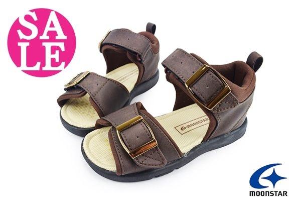 Moonstar 月星 Carrot男童涼鞋 輕量吸汗 兒童休閒涼鞋 G9681#咖啡◆OSOME奧森鞋業 零碼出清