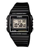 CASIO 卡西歐W 215H 1A 多彩大字幕電子錶
