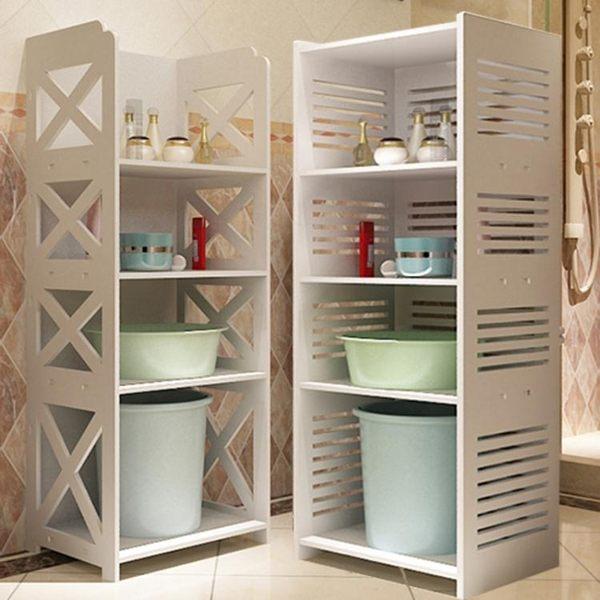 衛生間臉盆架落地置物架浴室廁所洗手間免打孔收納架儲物櫃桶架   智聯igo