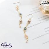 耳環 RCha。韓‧炫彩配色圓珠垂墜耳環-Ruby s 露比午茶