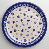 波蘭陶 雪白冰花系列 圓形餐盤 27cm 波蘭手工製