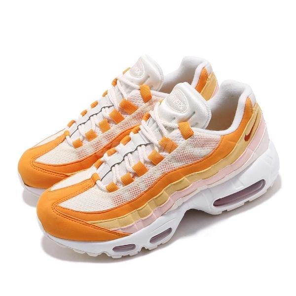 【六折特賣】Nike 休閒慢跑鞋 Wmns Air Max 95 橘 粉紅 白 女鞋 運動鞋 【ACS】 307960-114