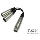 ☆唐尼樂器︵☆台製 Stander Y-XX-01 XLR 母頭轉 兩個 XLR 公頭音源訊號分接線 麥克風分接線