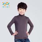 【WIWI】MIT溫灸刷毛高領發熱衣(銀河灰 童70-150)