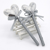 幸福婚禮小物❤閃亮亮愛心簽名筆❤婚禮用品/簽名筆/會場佈置