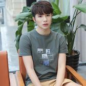 T恤夏季新品潮流短袖t恤男士青少年學生半袖體恤衫修身正韓上衣男裝