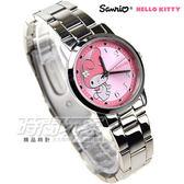 Hello Kitty 凱蒂貓 熱愛美樂蒂時尚錶 不銹鋼 女錶 粉 LK678LWPA