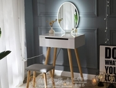 化妝櫃 北歐梳妝台臥室小 經濟型迷你簡約網紅化妝台帶燈ins簡易化妝桌子 igo