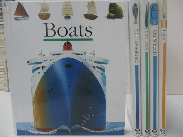 【書寶二手書T2/少年童書_AWA】Boats_The Telephone_The Tree_Light等_共5本合售