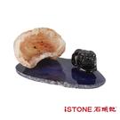 療癒寶庫 (貔貅+迷你聚寶盆組) 辦公桌景觀擺飾 石頭記