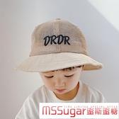 兒童帽子漁夫帽夏季遮陽帽薄款網眼寶寶帽子太陽帽透氣男女童帽潮