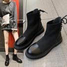 馬丁靴女英倫風新款百搭短靴春秋單靴ins網紅瘦瘦彈力靴子夏聖誕交換禮物