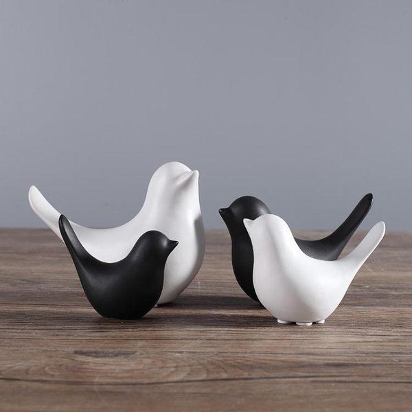 陶瓷小鳥家居裝飾品家庭擺件創意酒櫃客廳臥室房間家里室內小擺設YTL·皇者榮耀3C